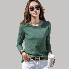Shintimes camicia a maniche lunghe abbigliamento donna 2021 autunno inverno T-Shirt maglietta femminile fibra di bambù cotone maglietta coreana Femme