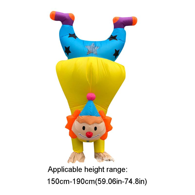 Handstand Clown Inflatable Costume Adult Funny Blowup Outfit Cosplay Party Dress 2020 Hot Sale