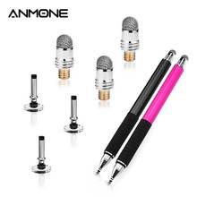 Stylus Pen Laptop-Pen-Accessories Head-Tablet Touch-Cloth Conductive ANMONE Sucker Fiber-Tip