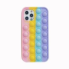 Popite reliver stress fidget brinquedos popsits bolha caso para iphone7 8 xs xr 11 12pro se mini anti-stress sensorial jogo capa adulto