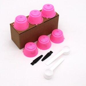 Image 5 - 6 pezzi adatti per filtri per Capsule di caffè riutilizzabili con tazza di filtro per caffè Dolce Gusto per Nespresso con accessori da cucina con spazzola a cucchiaio