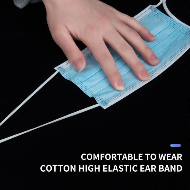 1000 pcs 3-Ply Non-woven Mask Disposable Respirators Face Masks Anti-Dust Anti Pollution Flu Masks Respirator Ear loop Free DHL 3