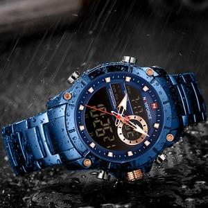 Image 4 - NAVIFORCE Men's Watches Top Brand Army Military Waterproof Sport Watch Men LED Quartz Digital Wrist Watch Male Relogio Masculino