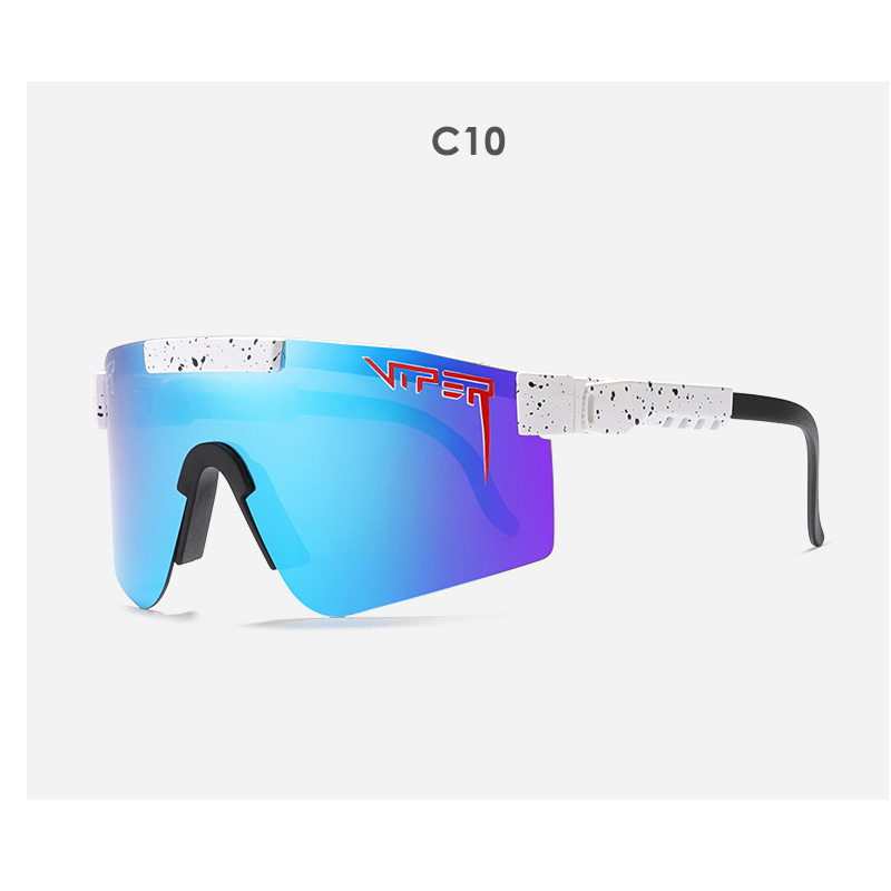 2020 oversized Sunglasses polarized mirrored RED BLUE lens tr90 frame protection Men Sport pit viper high quality UV400