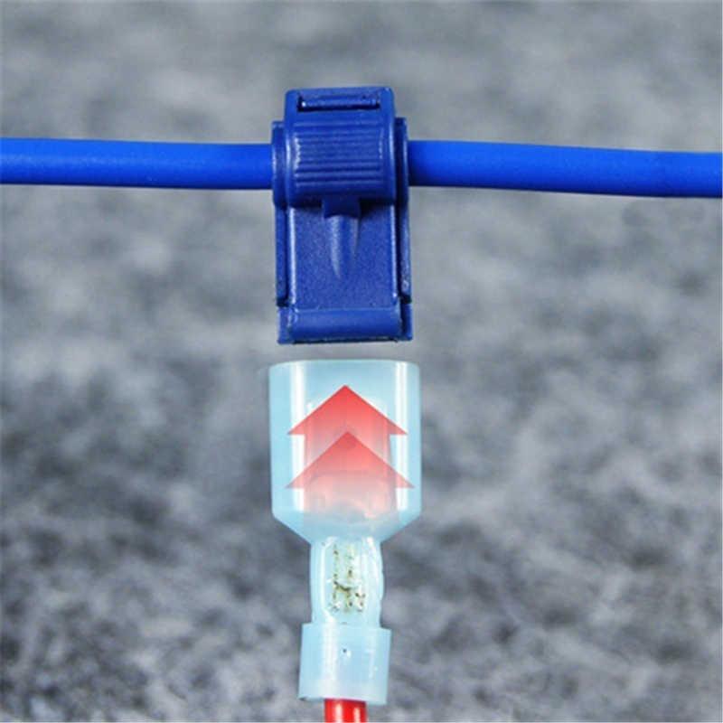 40 PCS Cepat Kabel Listrik Konektor Snap Sambatan Lock Wire Terminal Crimp
