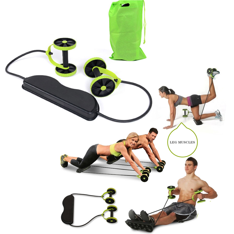 Muscle Exercise Equipment Home Fitness Equipment Double Wheel Abdominal Power
