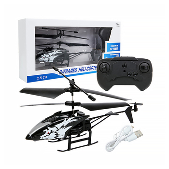 Wireless Remote Control Alloy Aircraft Helicopter Toy Children Plane Toys Nti-Collision 2 Channels RC Toy Kids Birthday Gift 2