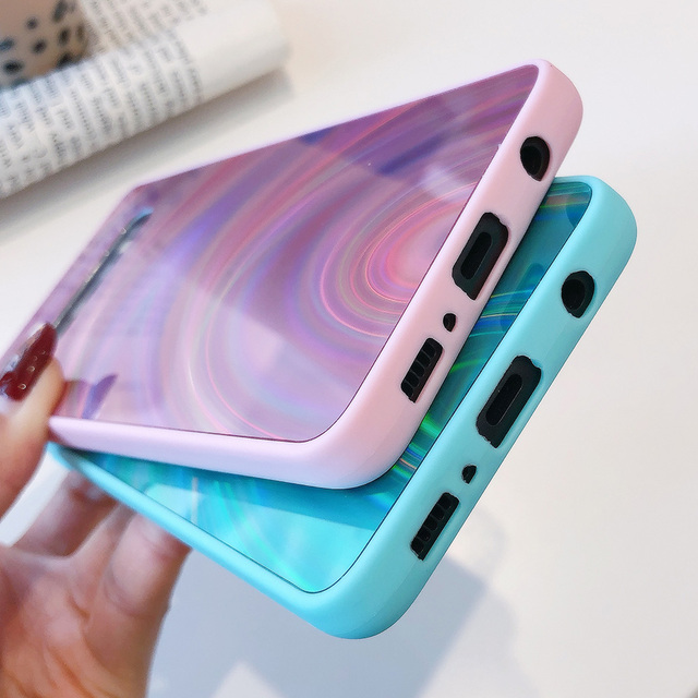 3D Rainbow Glitter Case for Samsung Note 20 S20+ S10 S9 S8 A11 A51 A21S A50 M30S Note 10 Pro Cases Holographic Prism Laser Cover 3