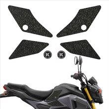 Motosiklet tankı ped koruyucu Sticker çıkartma diz kavrama çekiş yan kaymaz çıkartmaları HONDA 17 18 GROM 17 18 MSX 125