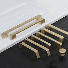 Gold Cabinet Knobs Brushed Brass Cabinet Handles Drawer Pulls Furniture Hardware Cabinet Door Handles Gold