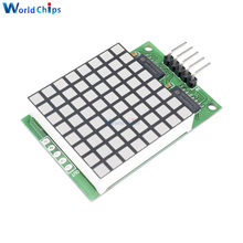 Diymore 8x8 kwadratowa matryca czerwony wyświetlacz led moduł punktowy 74HC595 moduł napędu czerwone piksele dla arduino uno R3 MEGA2560 Raspberry Pi