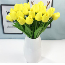 31pcs/lot PU Artificial Tulip Flower Real Touch DIY Wedding Decoration Flowers Bouquet for Home Party Decor