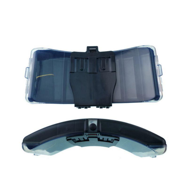 Folding Waterproof Tackle Box Outdoor Fishing Accessories Tackle Fishing Waist Belt Bait Box Fishing Gear Storage Case|Fishing Tackle Boxes| |  - title=