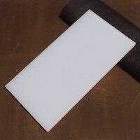 Almohadilla de goma DIY para trabajo de punzonado, estera de mesa, herramientas artesanales de cuero, almohadilla de protección artesanal, color blanco, 20x10cm
