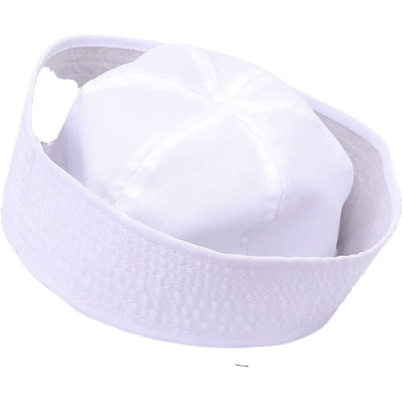 White Captain Sailor Hat Cosplay Party Photo Props Cloth Women Men Fashion Fancy Cosplay Hat Accessories