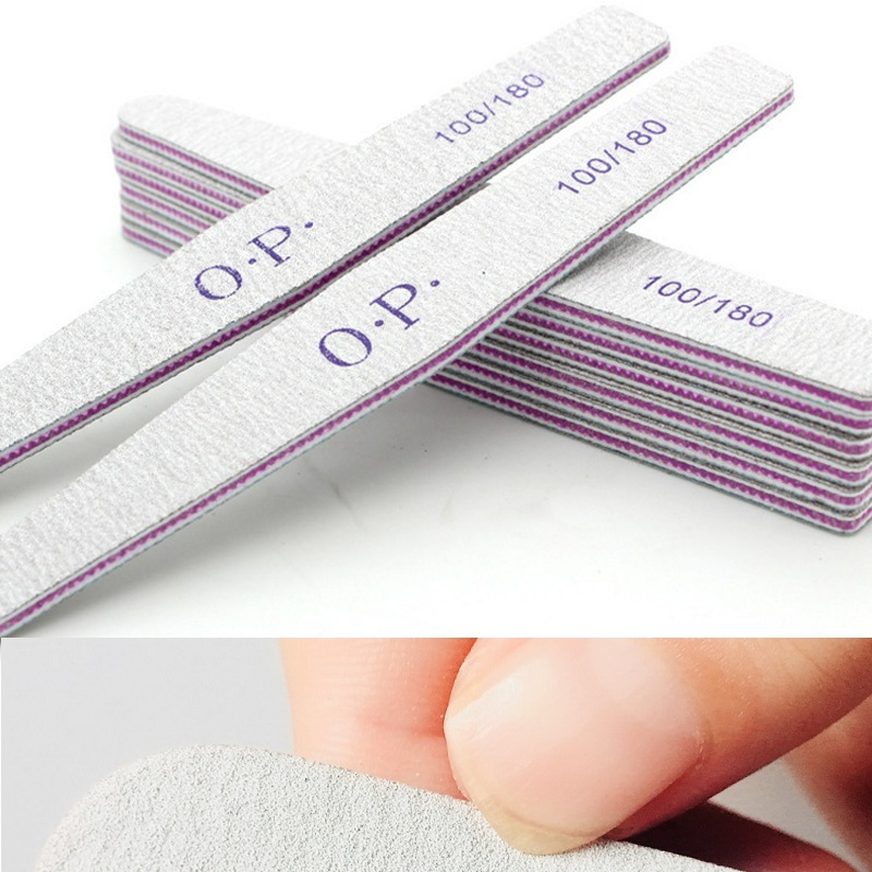 Brand 100/180 Nail Files Block Buffer Pedicure Manicure Gel Polisher Nail Polish Files Beauty Tool Professional Nail Files Tools