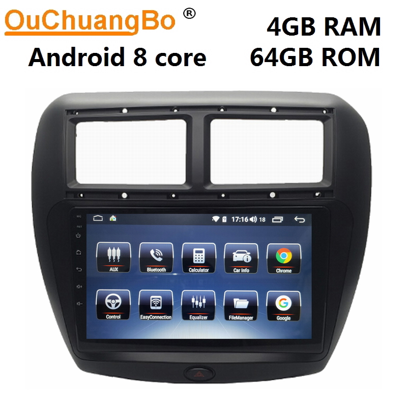 Ouchuangbo stéréo automatique gps système radio pour FAW V5 avec android 9.0 bluetooth 8 core 4 GO RAM 64 GO de ROM