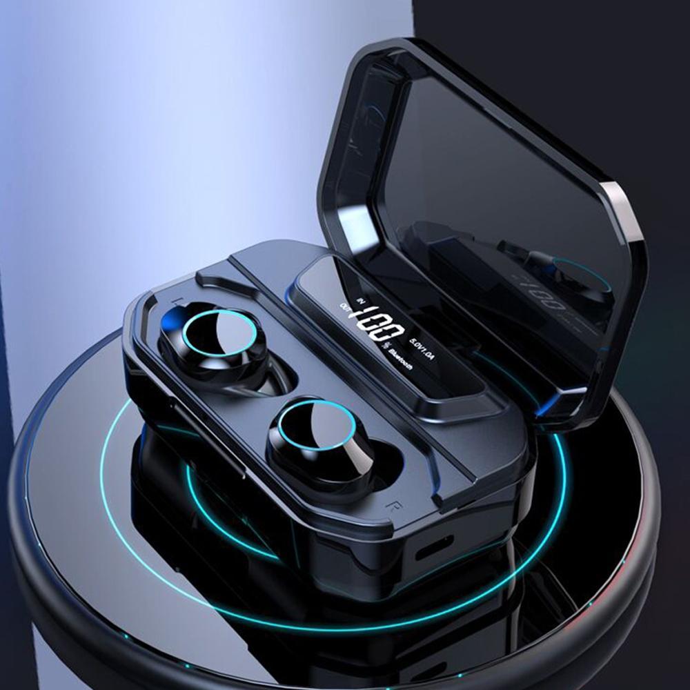 HAMTOD G02 Bluetooth écouteur 5.0 LED écran d'affichage étanche Binaural Sport sans fil Bluetooth casque pour iPhone/Xiaomi