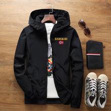 Мужская брендовая ветровка осень 2021 модная куртка с капюшоном