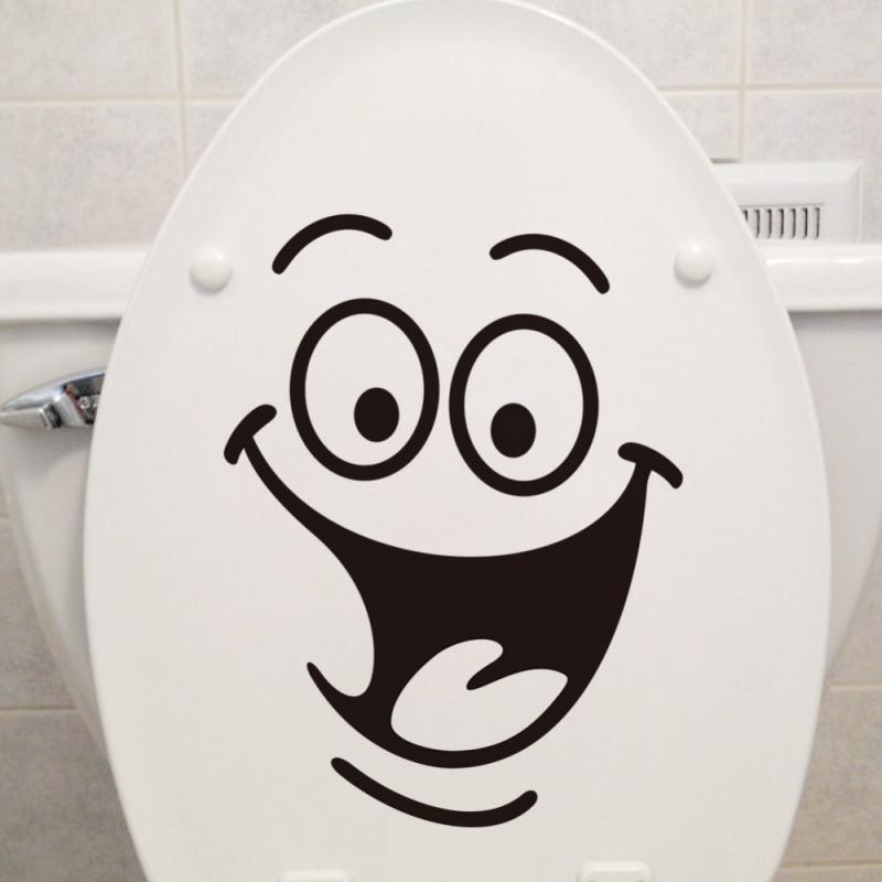 Citações engraçadas padrão toalete adesivos para decoração de casa à prova dwaterproof água vinil mural arte diy 3d vista wc decalques parede
