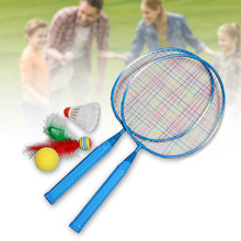 1 Pair Children Tennis Badminton Rackets Ball Set Sports Family Game Toy Kids YJS99