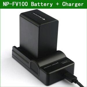 NP-FV100 NP FV100 NPFV100 Digital Camera Battery + Charger for Sony NP FV30 FV40 FV50 FV70 FV50A FV70A FV100A DCR SR68 SR88 SX15