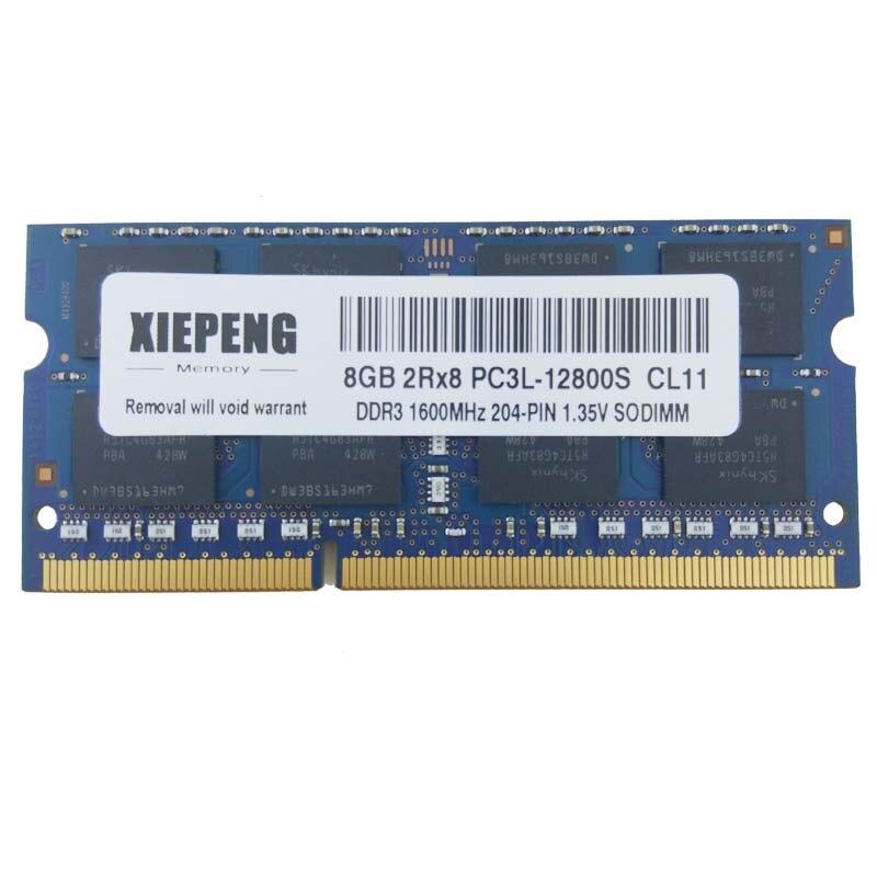 16GB 16G 2x 8GB Laptop RAM DDR3-1600 2RX8 PC3-12800S 12800 204PIN SODIMM Memory
