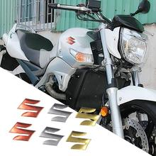 2 шт./компл. S логотип 3D мотоциклетная нательная защита багажника Декор Стайлинг наклейки Стикеры для Suzuki