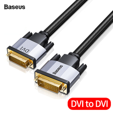 Baseus DVI to DVI Cable Dual Link DVI-D Male to Male DVI D 24+1 Video Cable For Projector HDTV PC Computer Adapter DVI Wire Cord стоимость