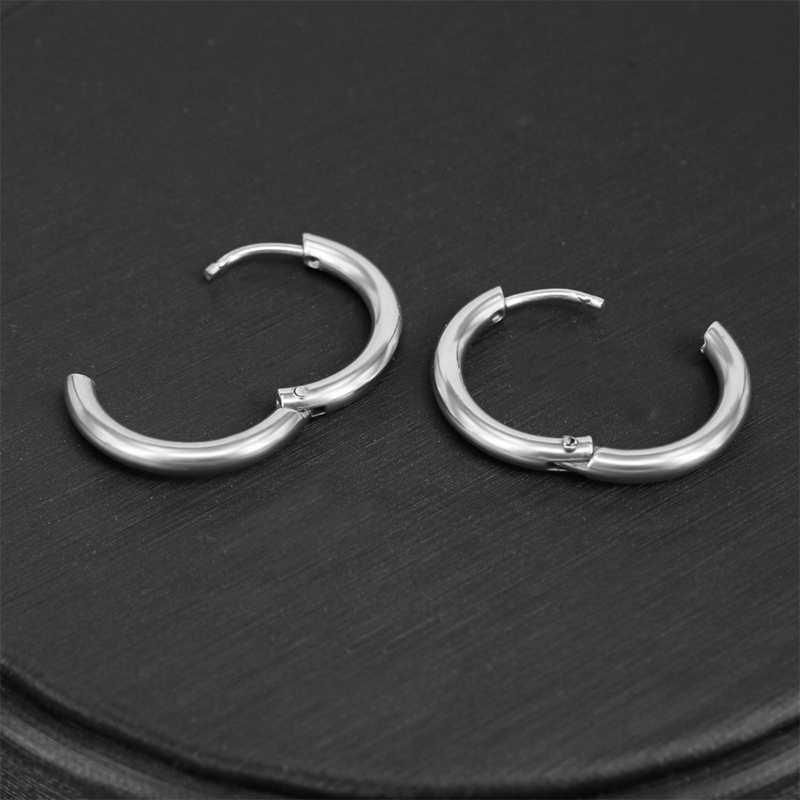 2020 Wanita Pria Mencegah Alergi Titanium Baja Anting-Anting Bulat Telinga Cincin Tulang Gesper Perhiasan Aksesoris Vintage Trendi Telinga Cincin