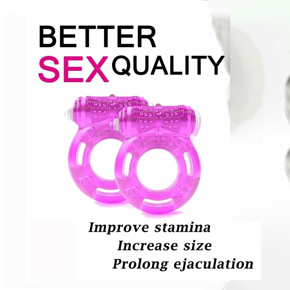 Elastic Delay Ring, Couple Adult Sexy Toy, Vibrating Cock Stretchy Intense Clit Stimulation, Premature Ejaculation Lock Vibrator