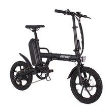 Складной электрический мини велосипед для взрослых, 16 дюймов, 36 В