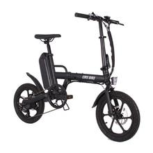 Dobrável 16 polegada 36v CMS F16 Plus ebike adulto dobrável bicicleta elétrica mini bicicleta elétrica