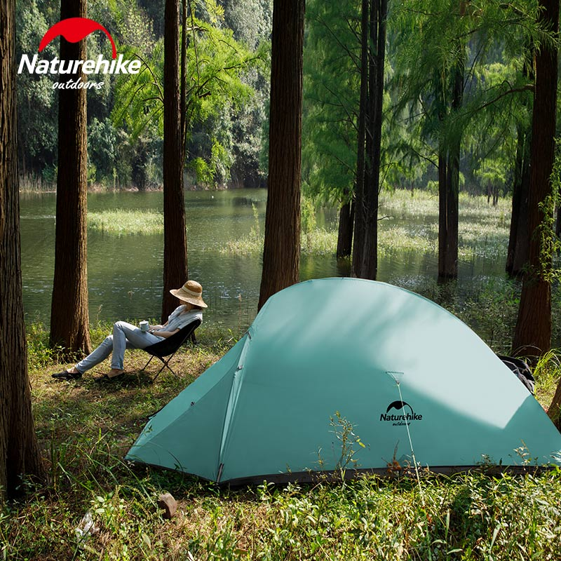 Naturehike Professional 2 Person Ultralight Camping Tent 20D Silicone Windproof Outdoor Hiking Backpacking Tent With Footprint(China)