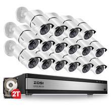 Zosi 1080p Система видеонаблюдения на 16 каналов с камерами