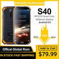DOOGEE S40 IP68 IP69K Del Telefono Mobile Display da 5.5 pollici 4650mAh MT6739 Quad Core 3GB di RAM 32GB di ROM android 9.1 8.0MP Macchina Fotografica 4G Rete