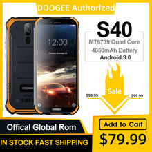 DOOGEE S40 IP68 IP69K Mobile Phone 5.5inch Display 4650mAh M