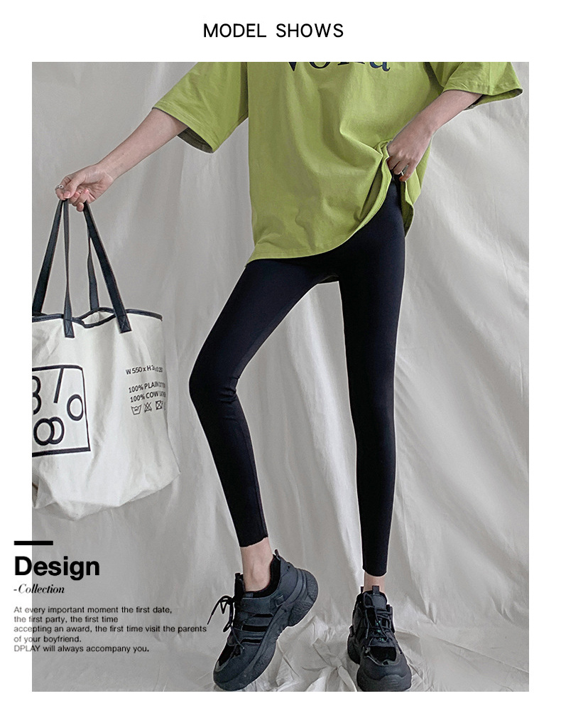 H6e852f78042f4670829b71b095b6d238o BIVIGAOS New 3-Color Sharkskin Leggings Women Spring Summer Thin Skinny Legs Fitness Leggings Pressure Elastic Sport Leggings