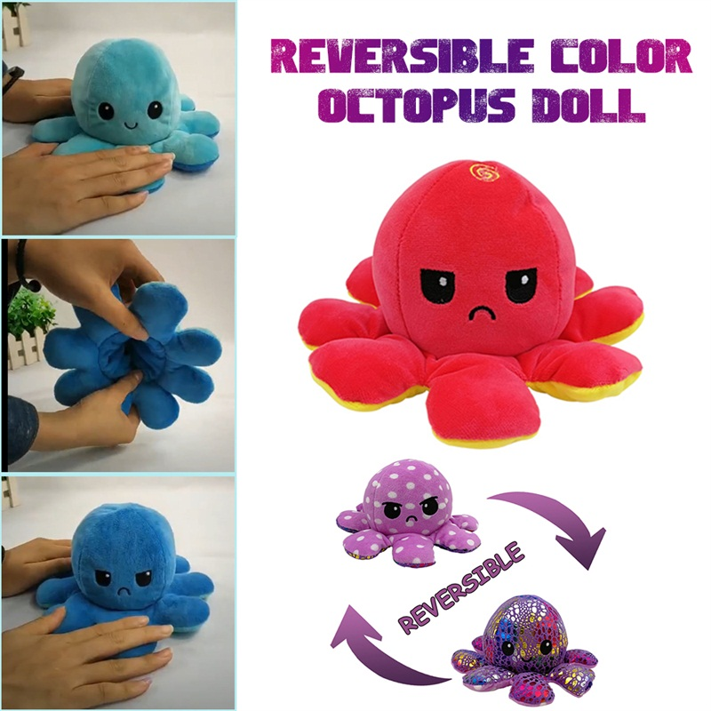 1PC Double-sided Doll Plush Toy Doll Soft Pillow For Home Decoration Accessories Kawaii Toys For Children Halloween Dropshipping
