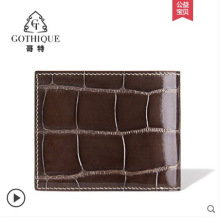 gete Crocodile leather wallet man style imported alligator smooth belly hand-made cross
