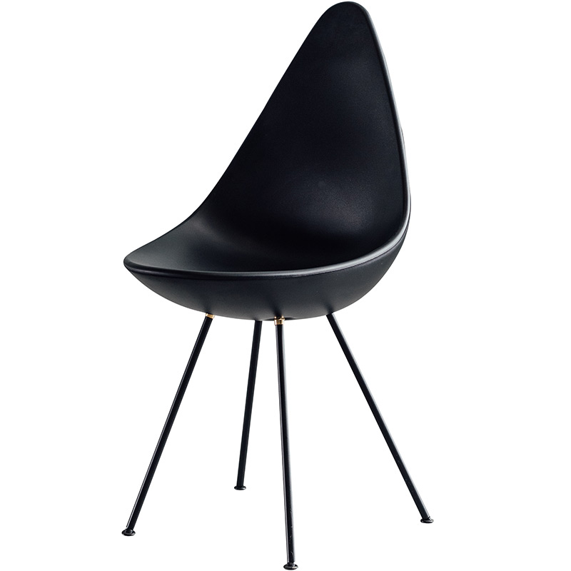 Nordic INS Teardrop Shaped Plastic Chair Restaurant Dining Chair Restaurant Office Meeting Home Bedroom Learning Plastic Chair