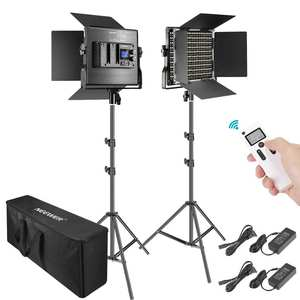 Video-Light-Kit Led-Panel Studio-Shooting Neewer Photography 660 Dimmable 2-Pack