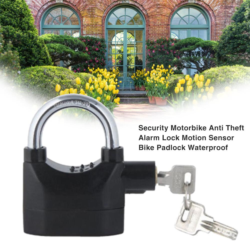 Warehouse Door Lock Bicycle Motorcycle Disc Brake Lock 110 Decibel Alarm IP65 Security Motorbike Anti-lost Theft Alarm Lock