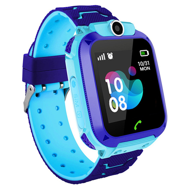 Smart Watch Kids IP67 Waterproof Sport GPS Smart Clock Android Children SOS Call Smartwatch with Camera SIM Card HD Touch 1