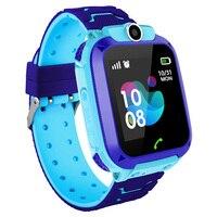 Inteligentny zegarek dla dzieci IP67 wodoodporny Sport GPS inteligentny zegar Android dzieci SOS zadzwoń smartwatch z kamerą SIM Card HD Touch w Inteligentne zegarki od Elektronika użytkowa na