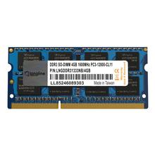 Palangre 4 GO DDR3L 1600MHz Mémoire Pc Portable CL11 PC3-12800 1.35V SO-DIMM LNGDDR3L1600NB/4 GO