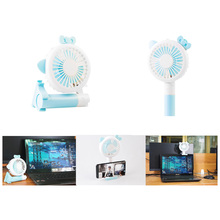 Handheld Electric Fans Mini Portable Outdoor Fan with Rechargeable 2000 mAh Battery Foldable Handle  Fan With LED table lamp portable solar 220v electric charging fan 1200ma battery rechargeable fan 5v mini multi functional led lamp flashlight