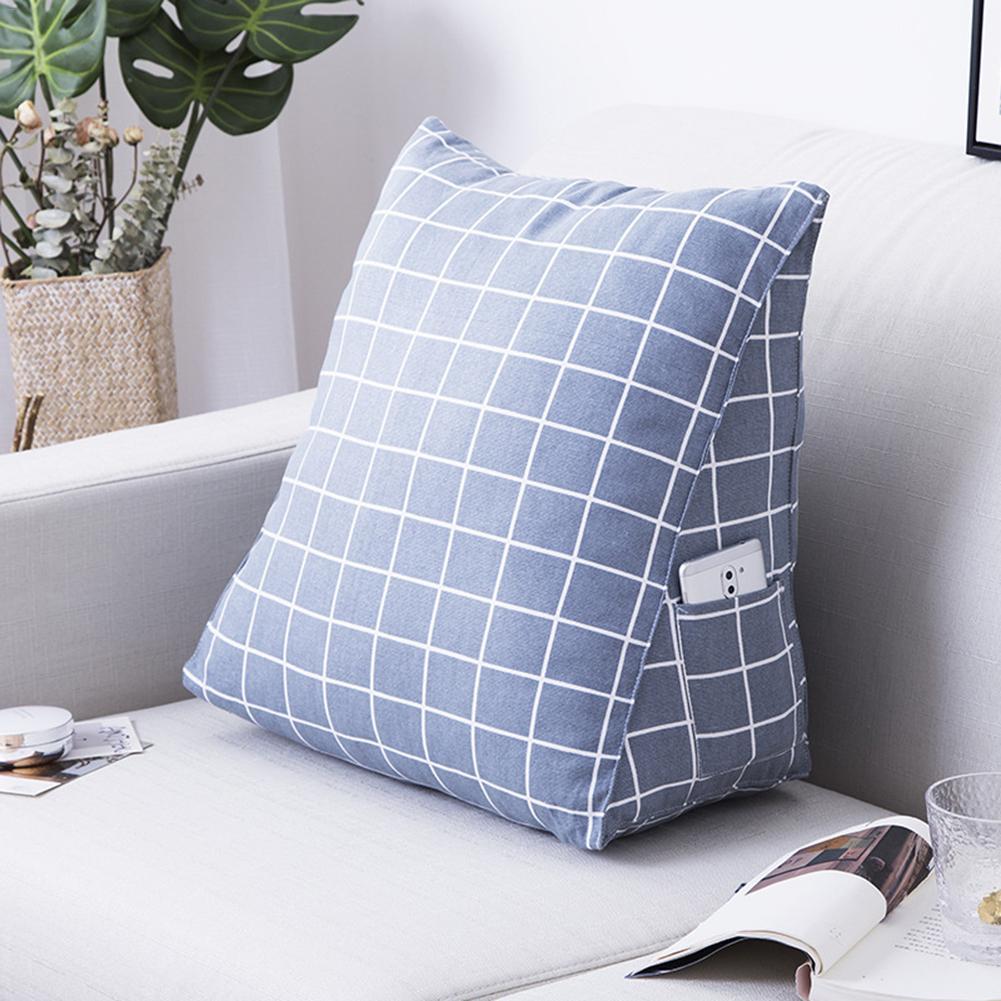 Cotton Pillow Cartoon Back Cushion Bedside Cushion Soft Triangle Printed Sofa Lumbar Pillow Canvas Home Decorative Cushion in Cushion from Home Garden