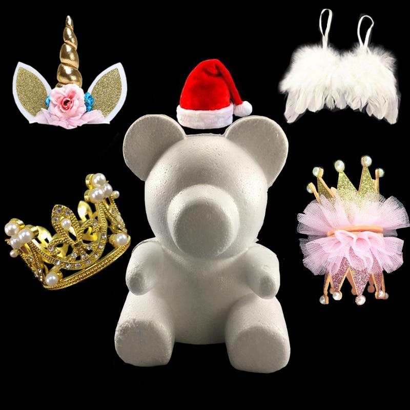 Форма в виде розового медведя из вспененного материала, украшения ручной работы для подарка на День святого Валентина, Рождество, свадьбу