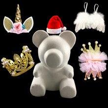 Rosa urso acessórios espuma rosa urso molde diy decorações artesanais para o dia dos namorados natal presente de casamento